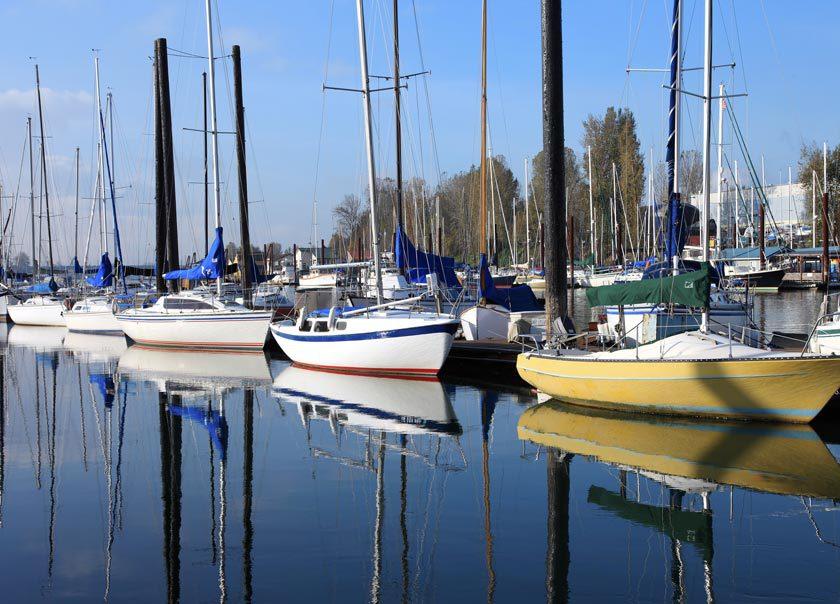 Columbia River marina